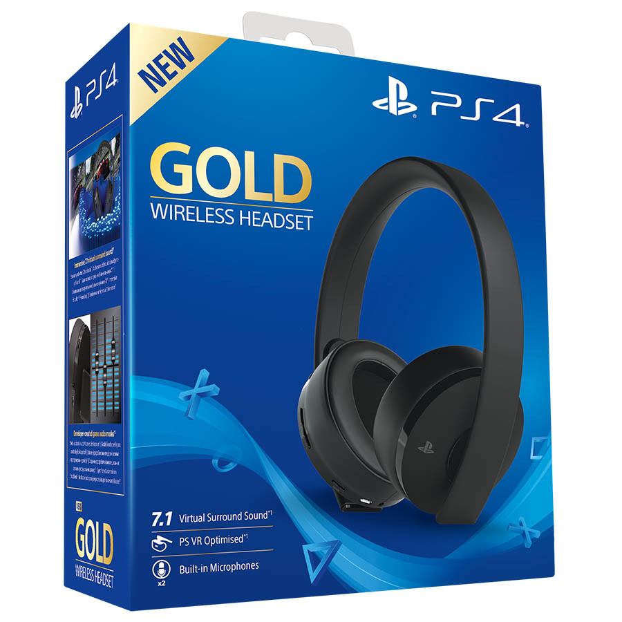 Slušalice PS4 Wireless Headset Gold
