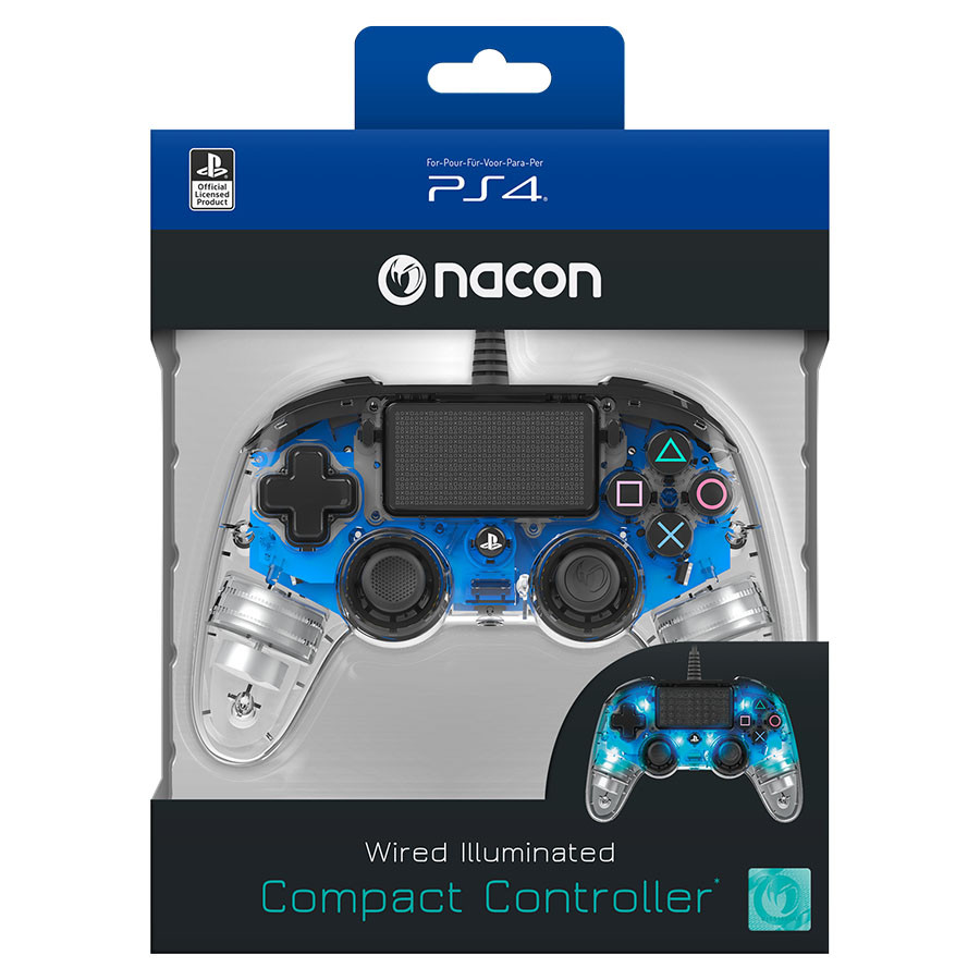 Gamepad Nacon PS4 Wired Illuminated Compact Blue