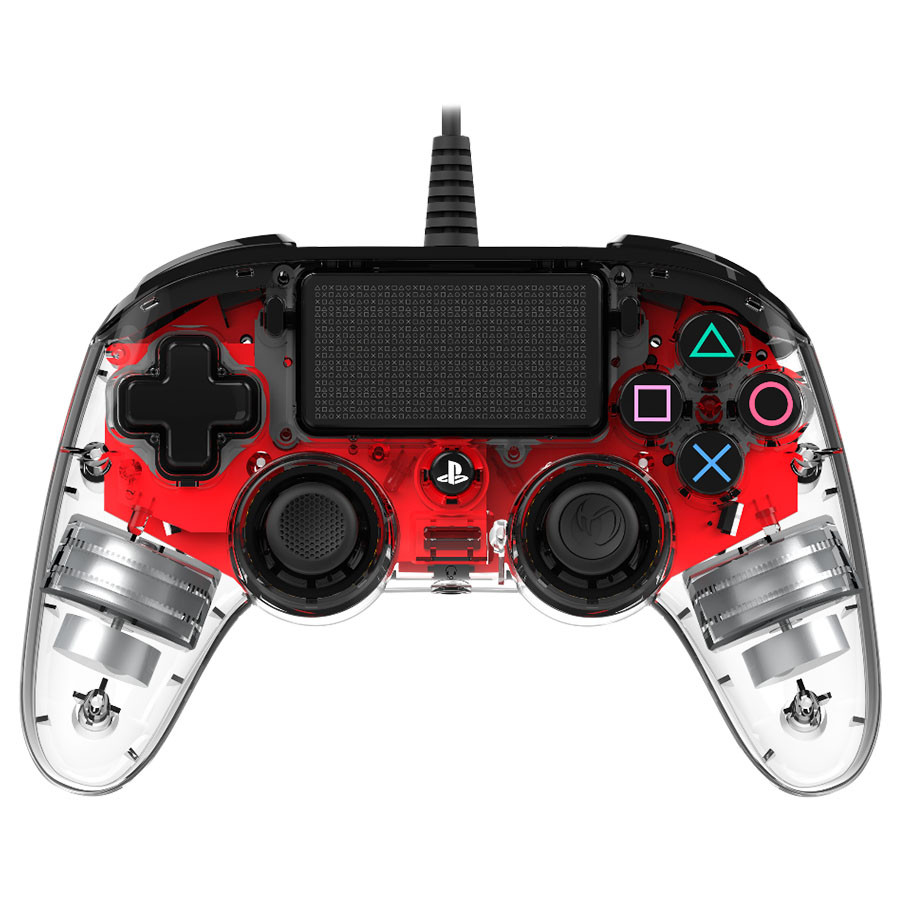 Nacon PS4 Wired Illuminated Compact Crveni - gamepad za PS4