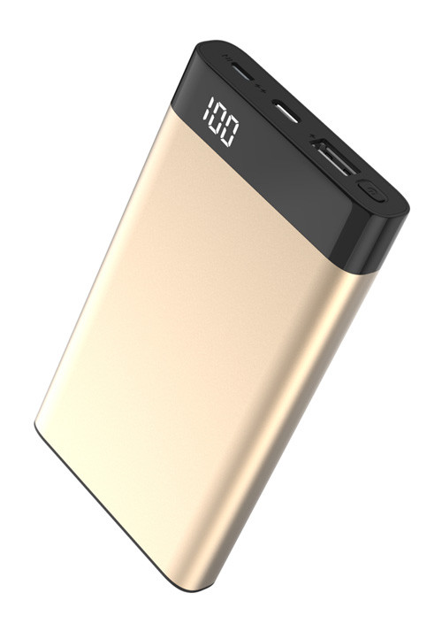 Power Bank Xipin Xipin T13 Gold, 10000mAh, QC