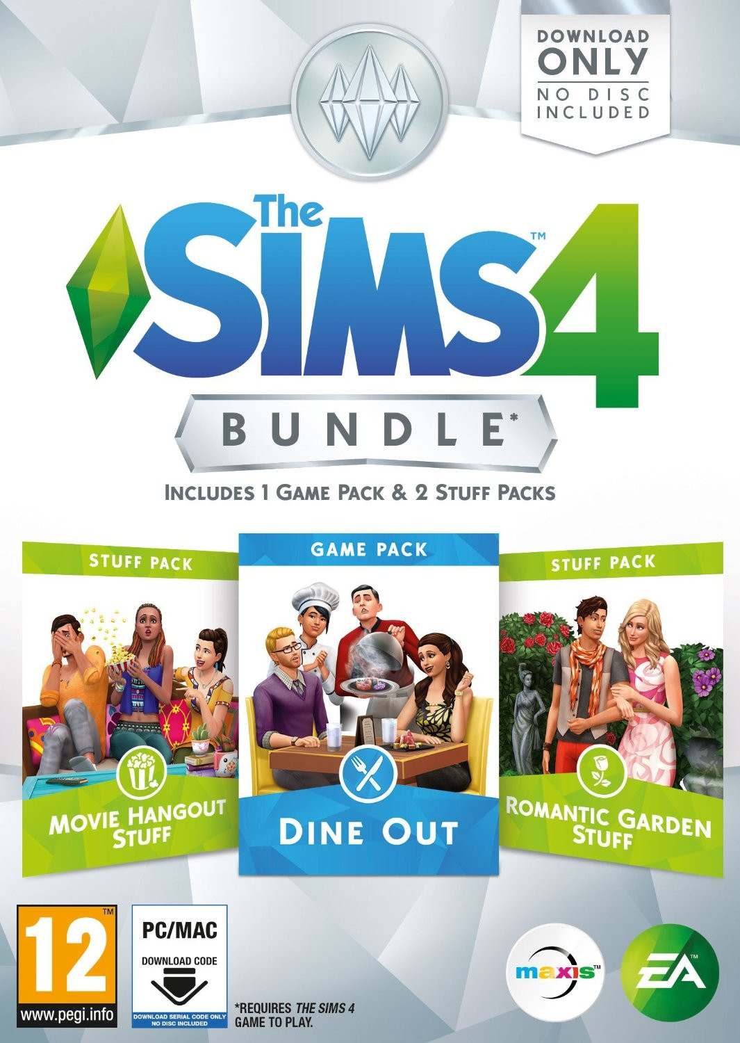 PCG The Sims 4 Bundle Pack 3 Cool Kitchen Stuff + Outdoor Retreat + Spooky Stuff (Code in a box)