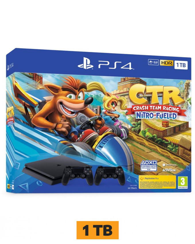 Konzola Sony Playstation 4 1TB sa dva džojstika + PS4 Crash Team Racing
