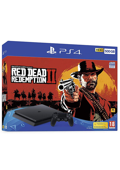 Konzola Sony Playstation 4 Slim 500GB Black + Red Dead Redemption 2