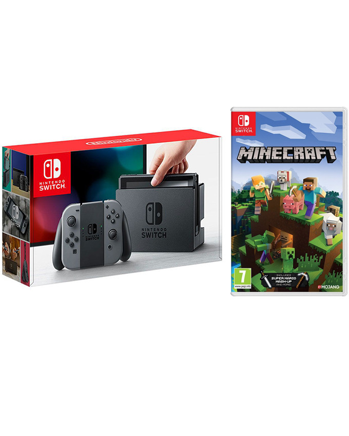 Konzola Nintendo SWITCH + Minecraft Bedrock Edition igrica