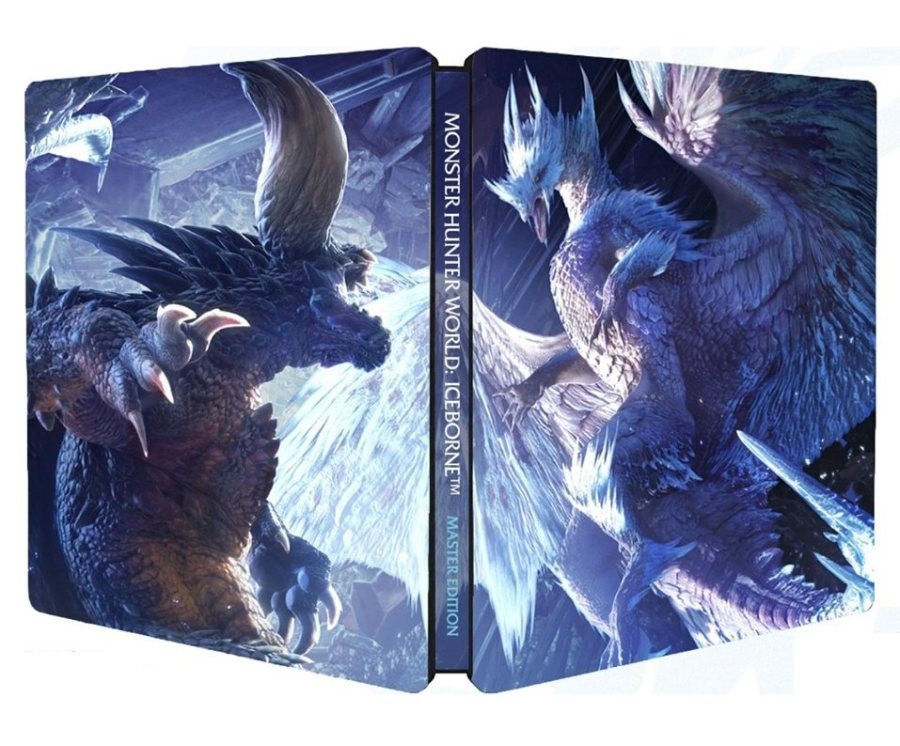 PS4 Monster Hunter World Iceborn Master Edition Steelbook