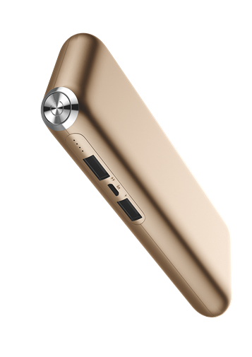 Power Bank Jellico 12000MAH LS10 2.4A OUTPUT Gold