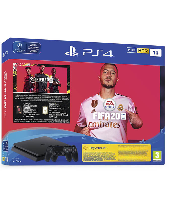 Konzola Sony PlayStation 4 1TB sa 2 džojstika + PS4 FIFA 20