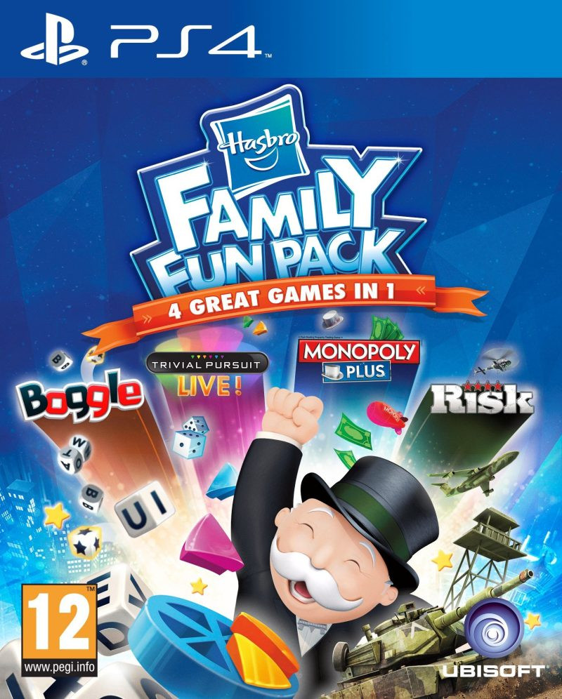 PS4 Hasbro Family Fun Pack (Boggle + Trivial Pursuit + Monopoly + Risk)
