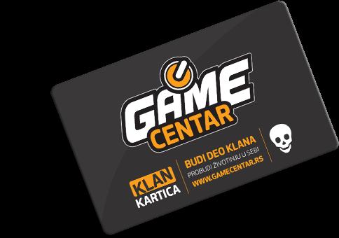 VIP kartica za popuste Game Centar KLAN
