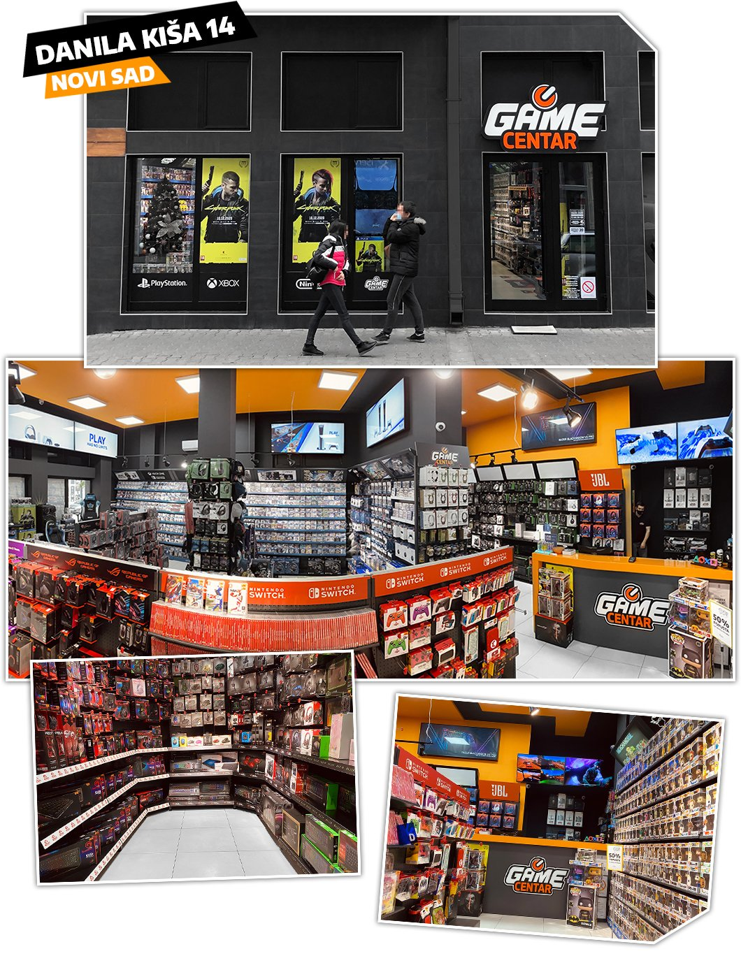 Game Centar prodavnica igrica Novi Sad